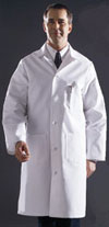 men's premium full length cotton lab coat