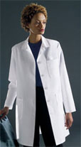 ladies' classic staff length lab coat
